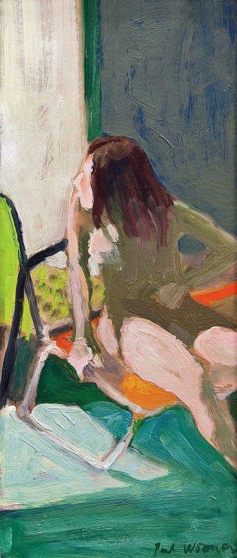 Paul Wonner (US 1920 – 2008) Model in the Sun, 1964 Bay Area Figurative Movement