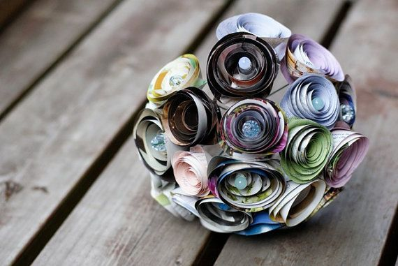magazine flowersBridal Bouquets, Wedding Ideas, Flower Bouquets, Wedding Bouquets, Paper Flower, Origami Flower, Floral Bouquets, Wedding Flower, Bridesmaid Bouquets
