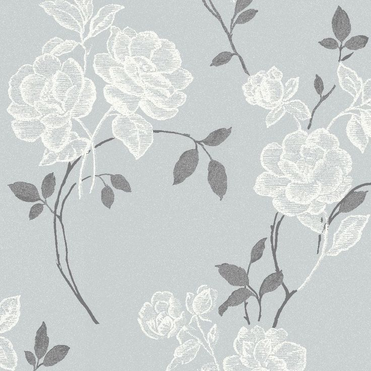 lutece paste the wall floral grey wallpaper departments