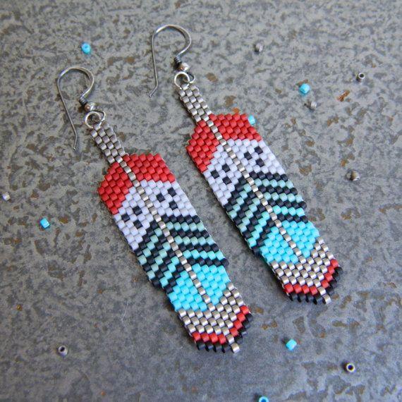 326 best Beaded Earrings images on Pinterest | Seed beads ...
