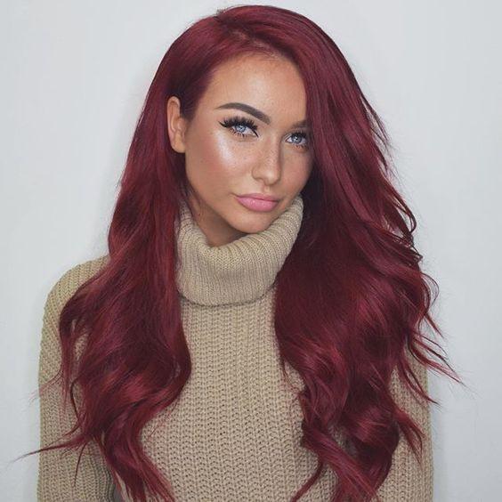 Burgundy Hair Red