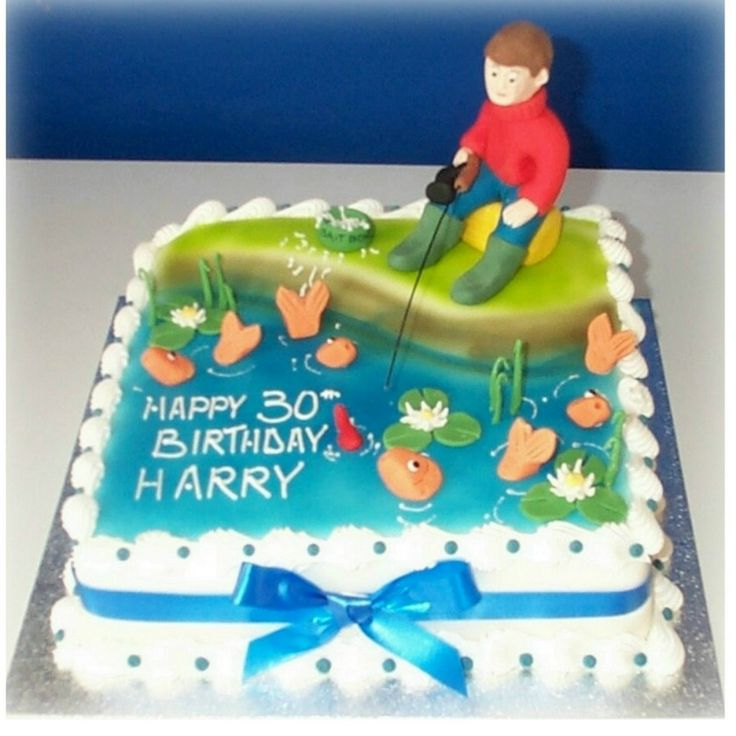 14 Best 50th Birthday Cake Images On Pinterest Fishing Birthday