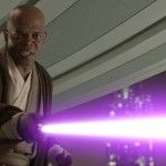 """""""We had this big arena, this fight scene with all these Jedi and they're fightin' or whatever. And I was like, well s---, I wanna be able to find myself in this big ol' scene. So I said to George, """"You think maybe I can get a purple lightsaber?"""" -Samuel L. Jackson (What Mr. Jackson wants, he gets!) Great actor! :)"""