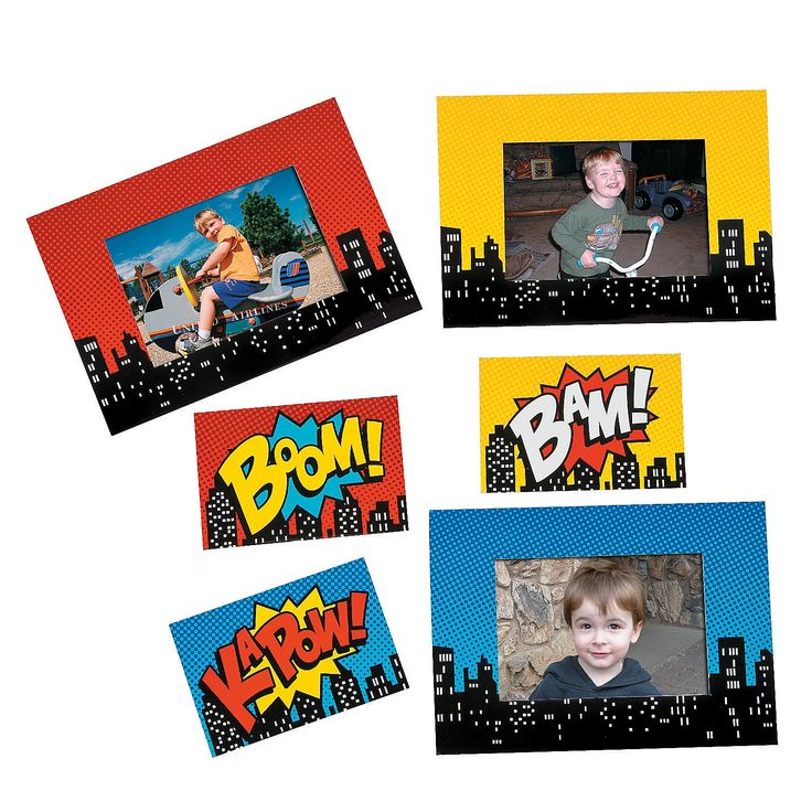 Superhero Magnetic Picture Frames - OrientalTrading.com Would make a great thank you with picture of guest
