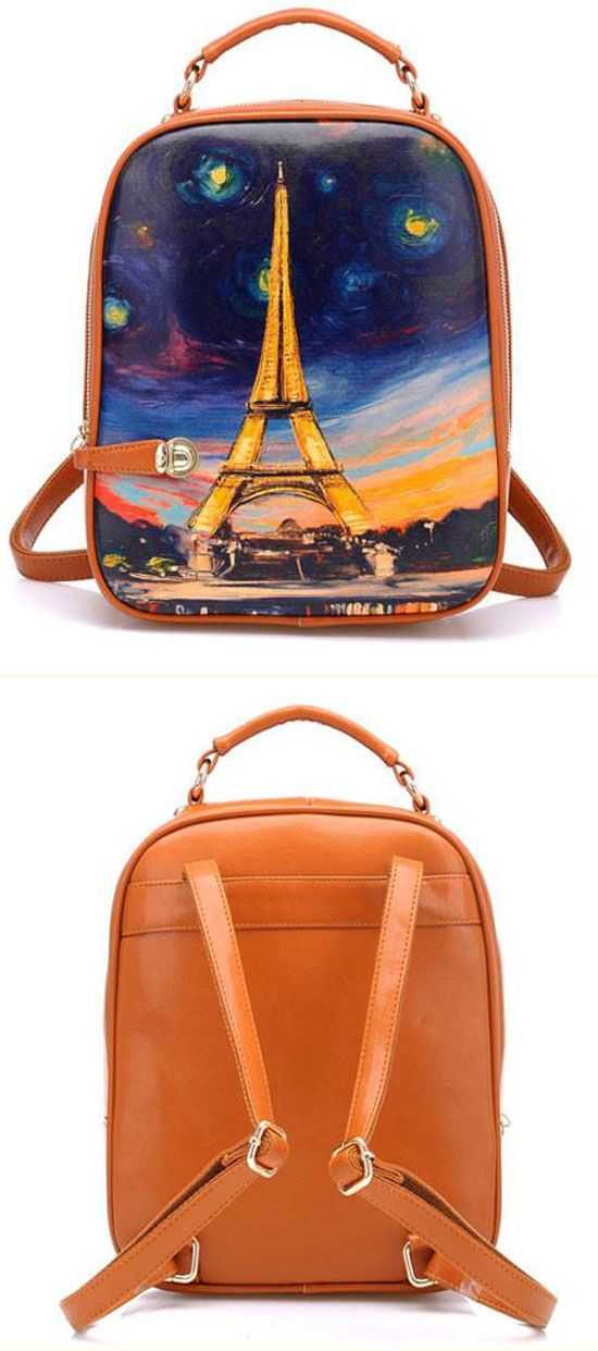 Latest Graffiti Eiffel Tower Painting Backpack for my sister !