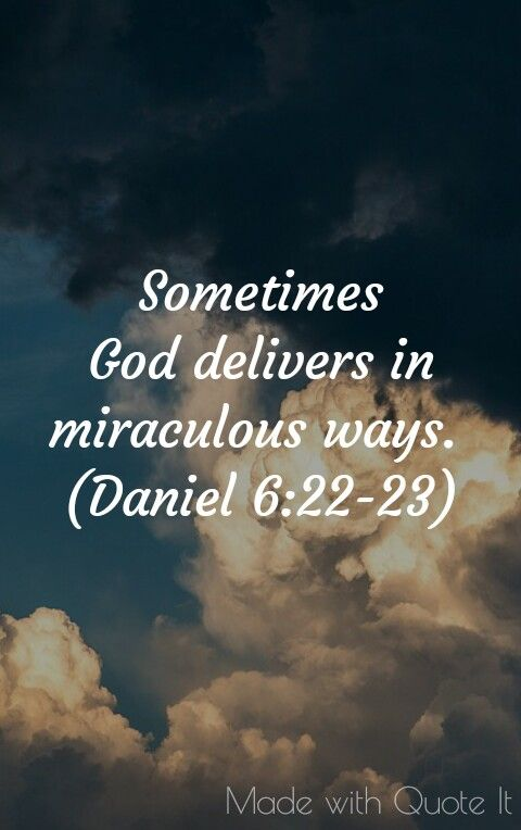 Miraculous blessing.