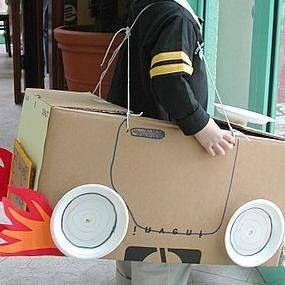 how to make a model car out of a box