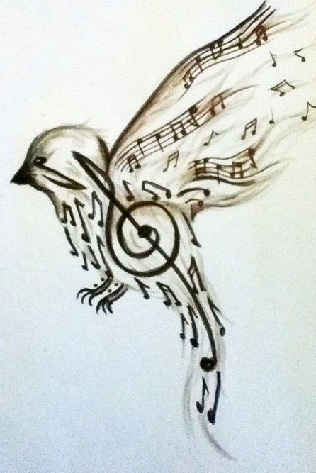 Music Note Bird Uhm This Is Beautiful