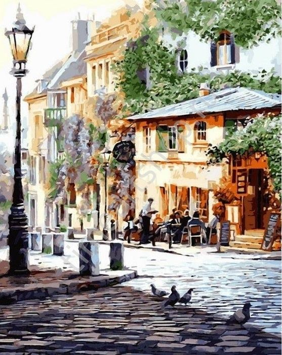 "художник Richard Macneil ""Летнее кафе. Италия"" картина раскраска по номерам, размер 40х50см."