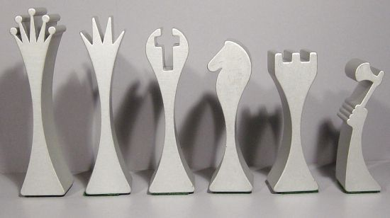 artist made chess sets | Limited edition chess set made in extruded aluminum | Designbuzz ...