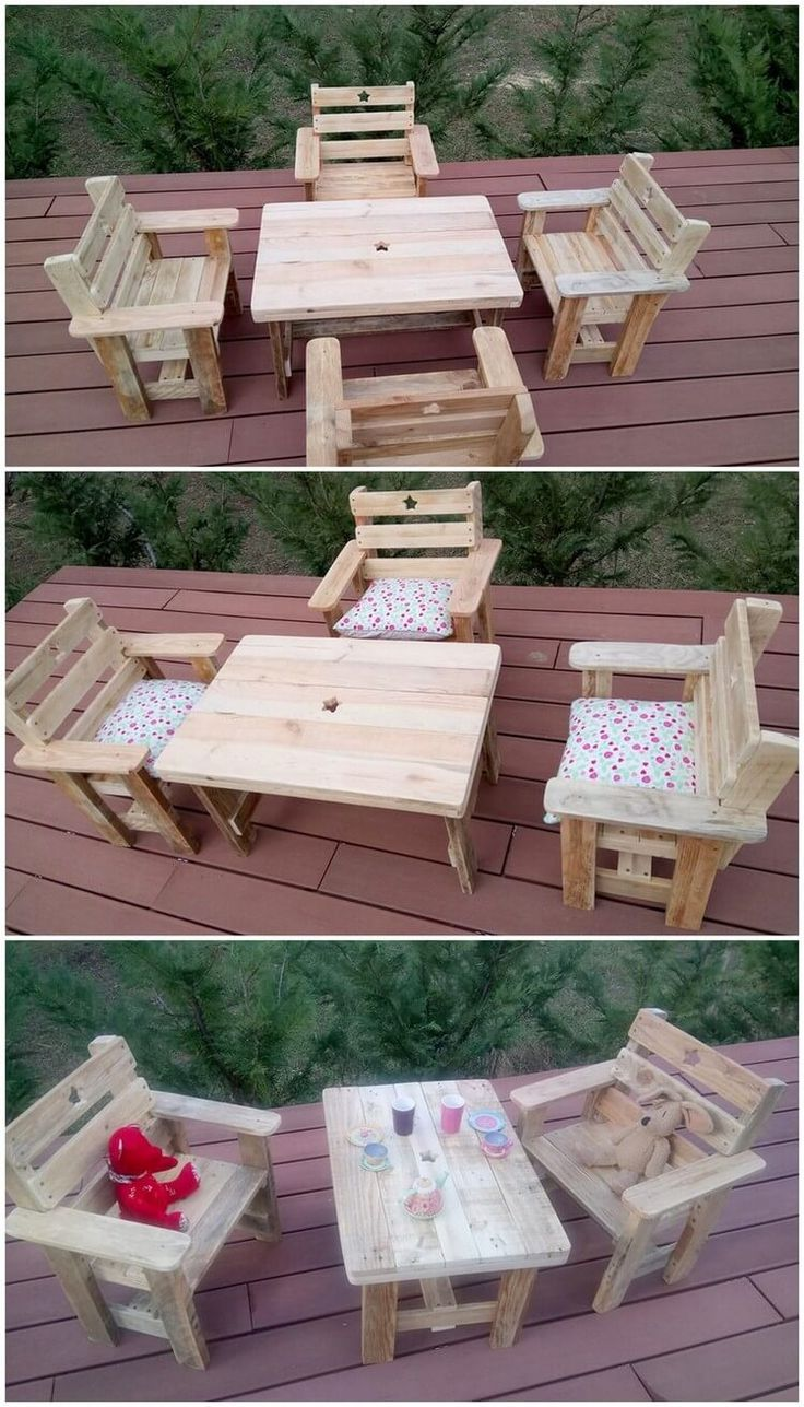 Well recycling wooden pallets into outdoors furniture sets have become one of the most popular trend these days. It might give out your house atmosphere with the rich royal look but at the same time it do look decent and sophisticated as well. This furniture set of wood pallet is perfect idea for you on our list!