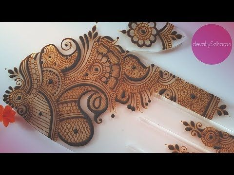 Indian Party/Sangeet mehendi | Henna tutorials by Devaky S Dharan - YouTube
