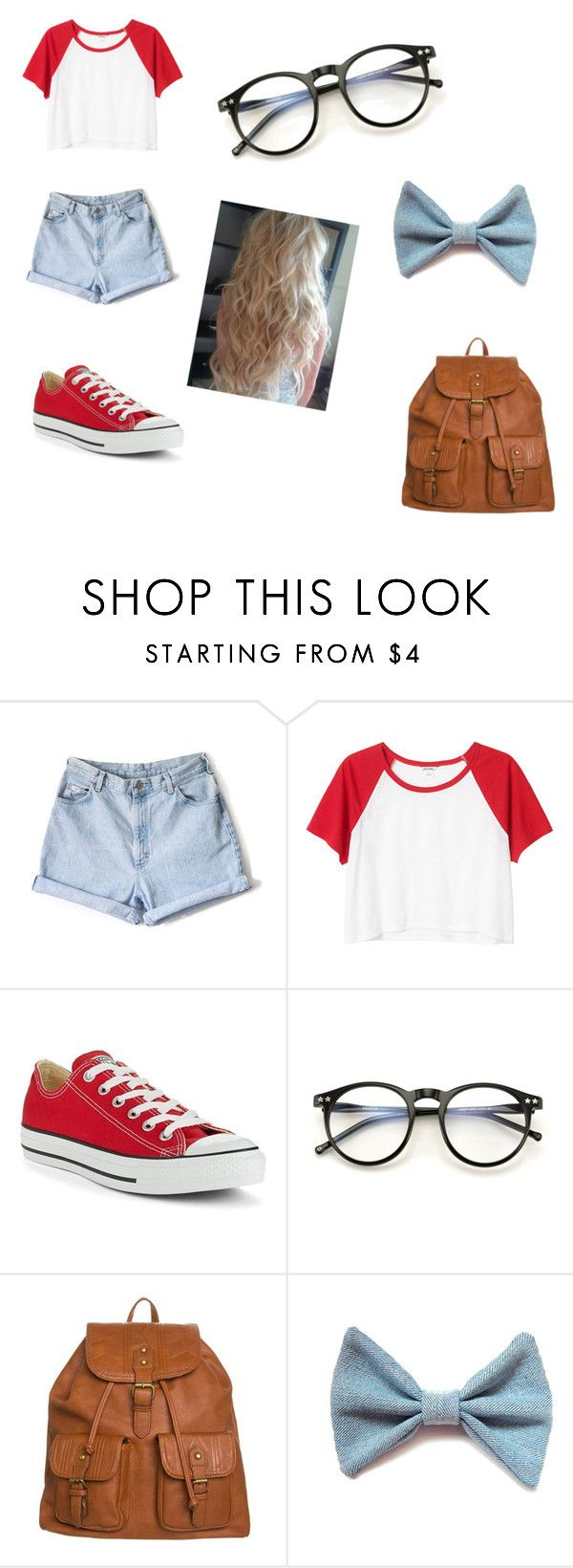 """casual back to school outfit!"" by amcgirl22 ❤ liked on Polyvore featuring Monki, Converse, Wildfox and even&odd"