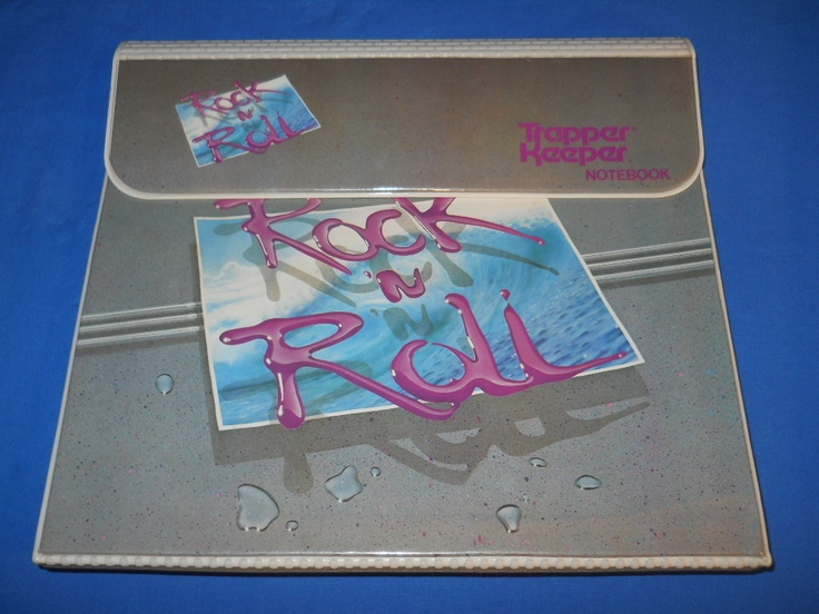 vintage 90S ROCK N ROLL Trapper Keeper!  this was mine!