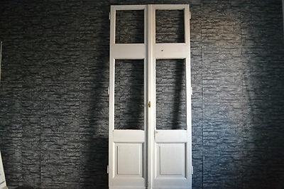 Antike Tür, Balkontür Doppelflügel 232 x 98  Zweiflügel, Zimmertür, Terassentür