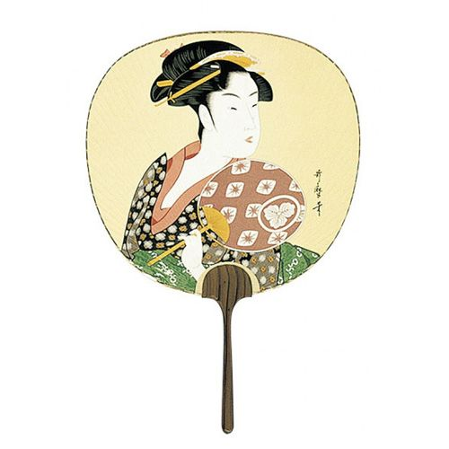 Utamaro (Woman Holding Fan) Uchiwa Fan