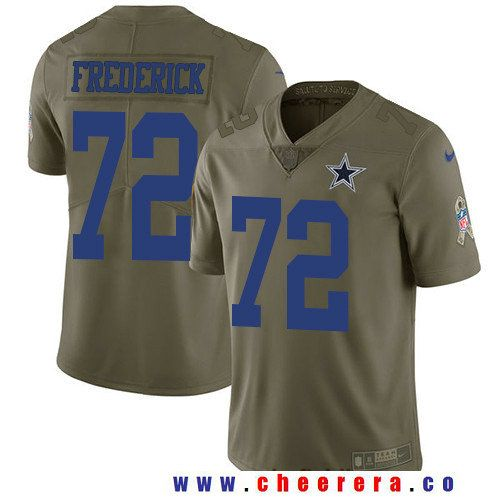 Men's Dallas Cowboys #72 Travis Frederick Olive 2017 Salute To Service Stitched NFL Nike Limited Jersey