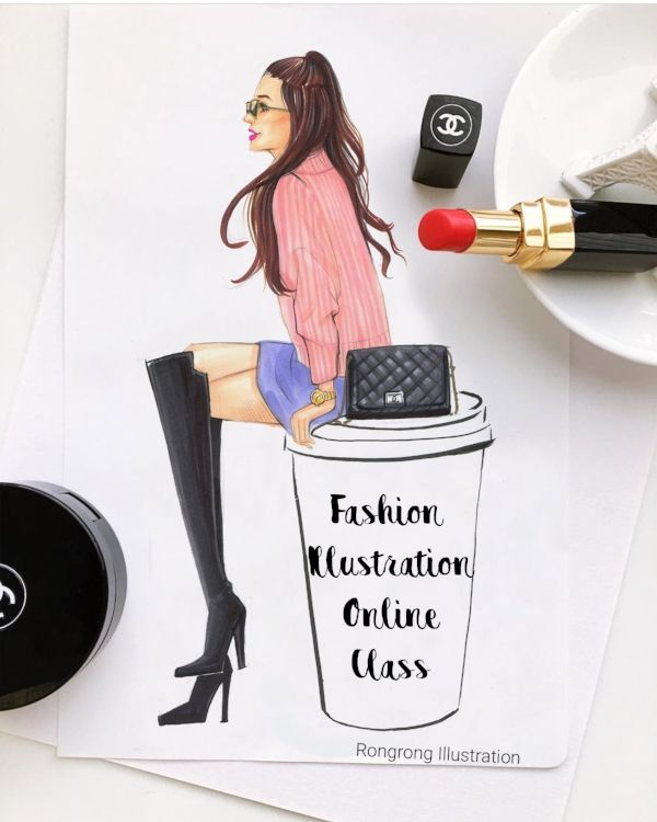 fashion illustration online class taught by professional fashion illustrator Rongrong DeVoe