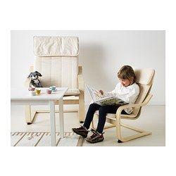 POÄNG Children's armchair, birch veneer, Almås natural - birch veneer/Almås natural - IKEA