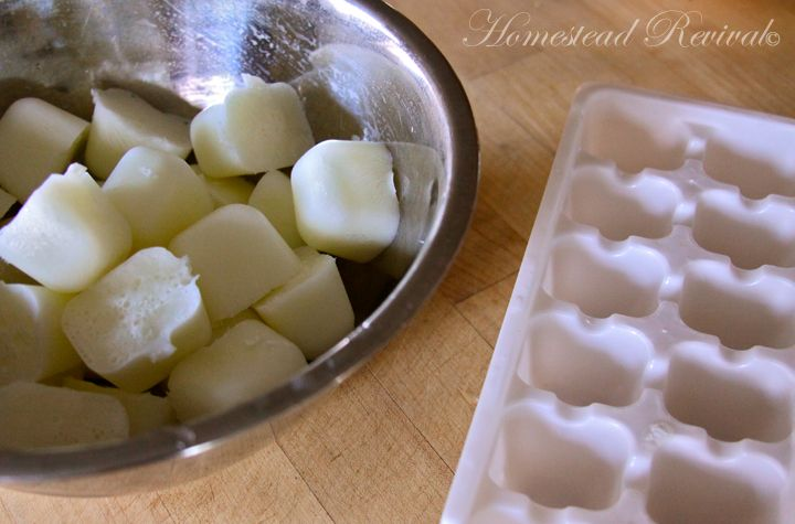 Freezing buttermilk or heavy cream cubes for cooking. I never use a whole carton nor do I have in stock when a recipe calls for a bit! This is genius!