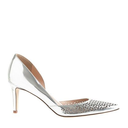 Valentina perforated mirror metallic pumps - size 5 - Women's sizes 5 and 12 shoes - J.Crew