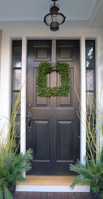 looked everywhere this year for a square boxwood wreath. next year, I make my own