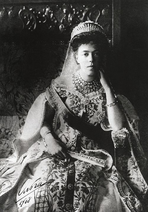 Grand Duchess Olga Alexandrovna in court dress,...