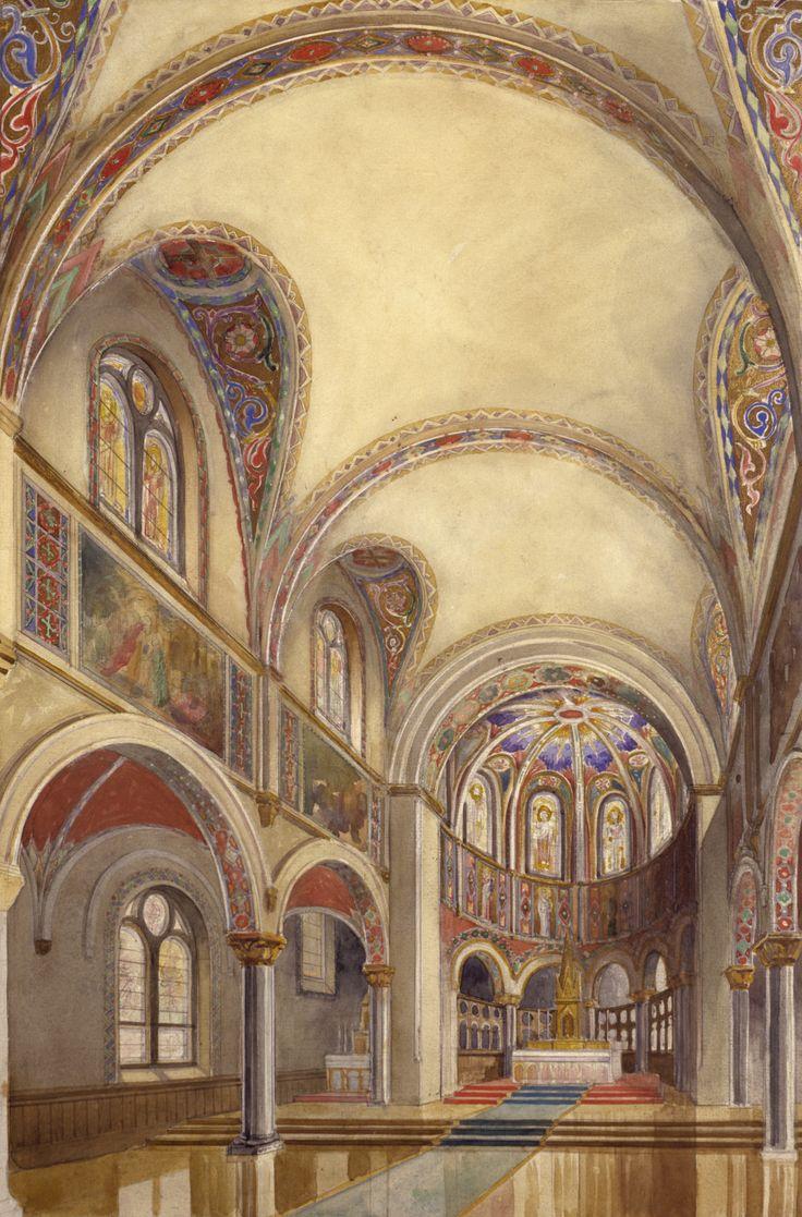 Historic Architectural Renderings of Church Interior by Conrad Schmitt Studios, Inc.