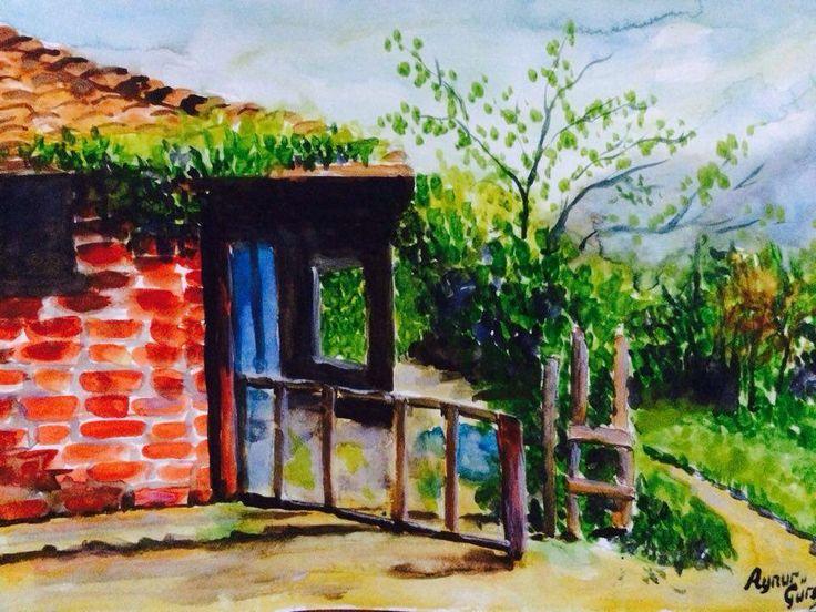 Watercolor home