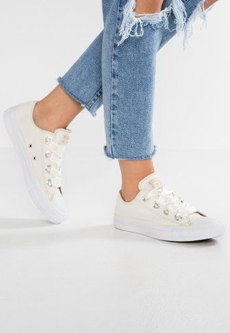 e44ff493a2e9ed CHUCK TAYLOR ALL STAR BIG EYELETS - Baskets montantes - pure platinum light  carbon white   ZALANDO.FR 🛒
