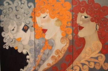 """Saatchi Art Artist Seba Art Gallery; Painting, """"FUNDA ALKAN CUMBUL"""" #art"""