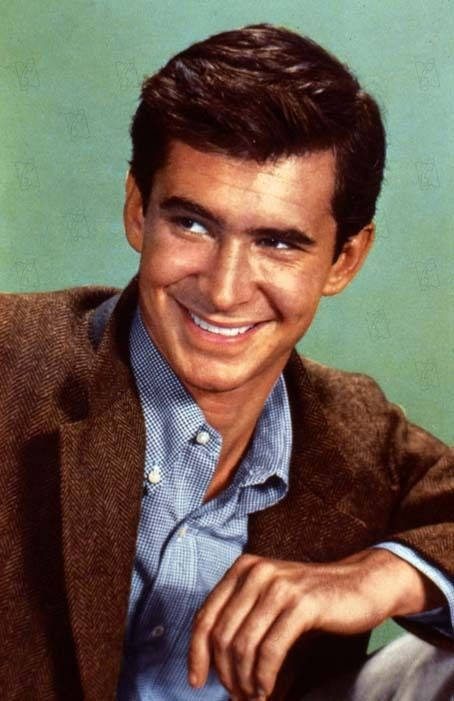 Anthony Perkins, American actor. Perkins was nominated for a Best Supporting Actor Oscar for his second film, Friendly Persuasion. He is best known for playing Norman Bates in Psycho.