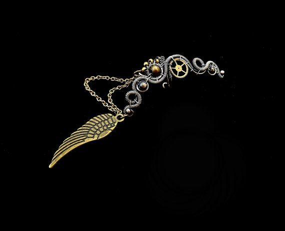 Steampunk Wing Ear Cuff Fake Helix No Piercing by MayaHandmade