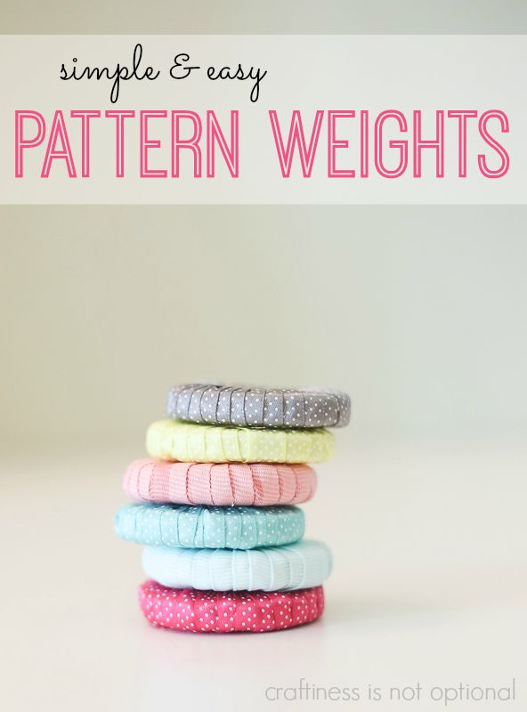 simple & easy pattern weights - craftiness is not optional