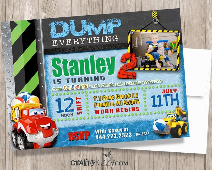 Πάνω από 25 κορυφαίες ιδέες για Construction birthday invitations - birthday invitation model