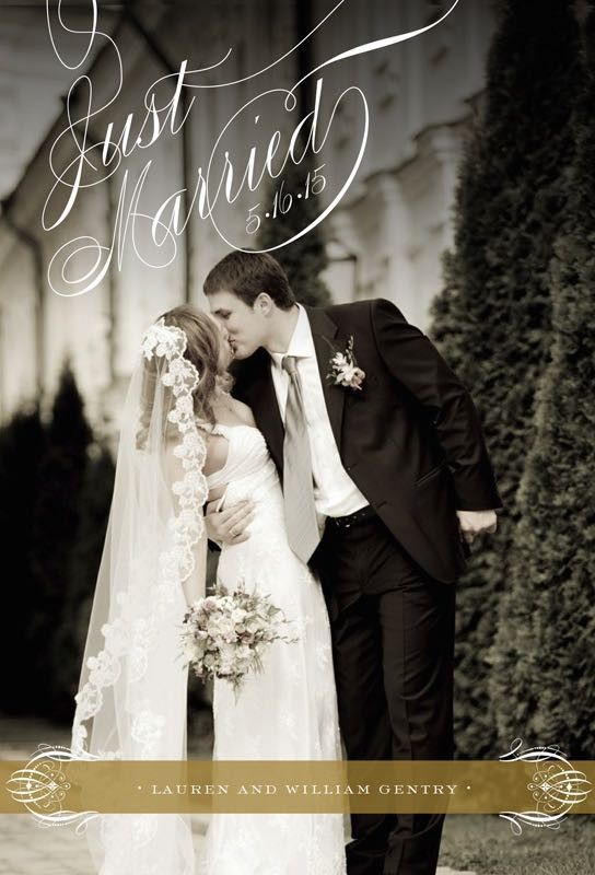 Romance Just Married Wedding Announcement By Anna Griffin