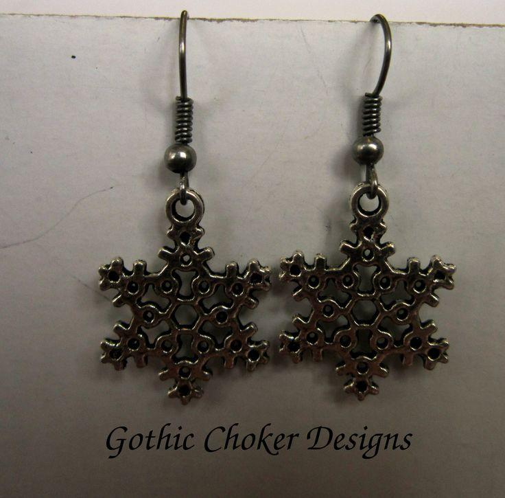 Snowflake earrings.  R30
