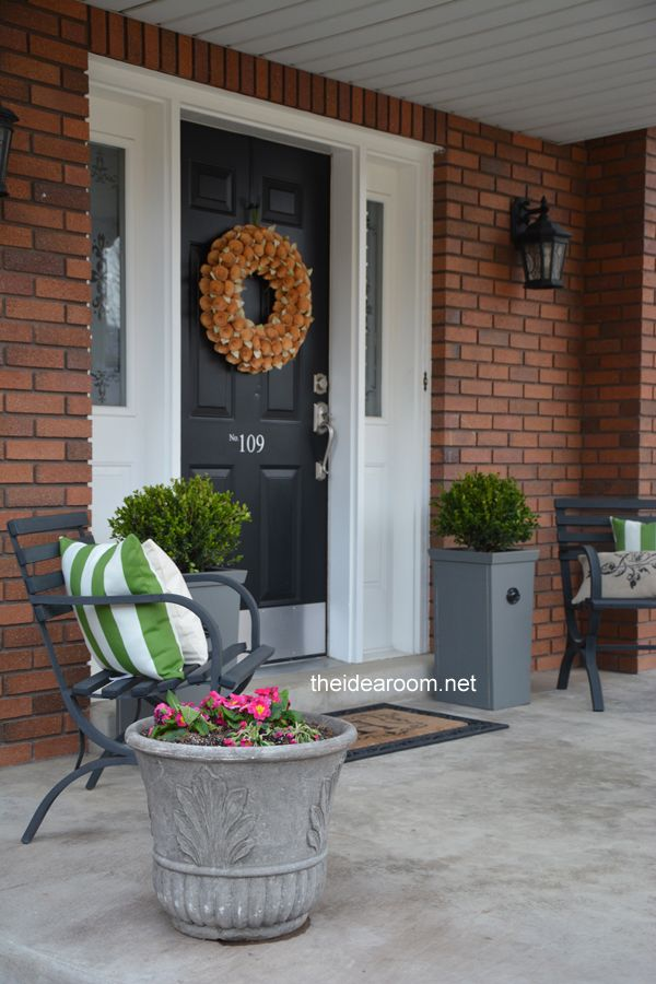 Diy Porch Planter Kick Plate How To Paint And Tall Planters