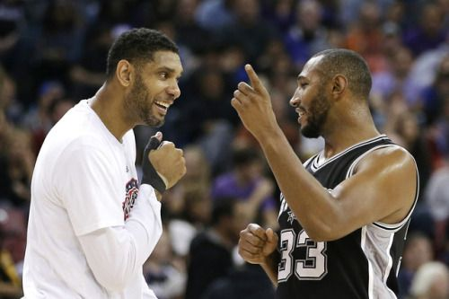 Before the Spurs demolished OKC, Tim Duncan and Boris Diaw... #Spurs: Before the Spurs demolished OKC, Tim Duncan and Boris Diaw… #Spurs