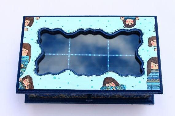 Caja de té cajonera (6 comp.)