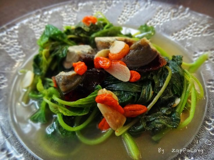 ZapPaLang: 上汤芫菜 Chinese spinach in superior stock