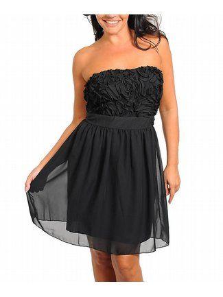 Plus Size Black Dance Dress — Women's Apparel Deals