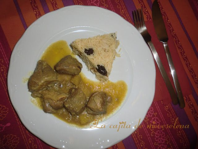 Cordero al curry con arroz basmati