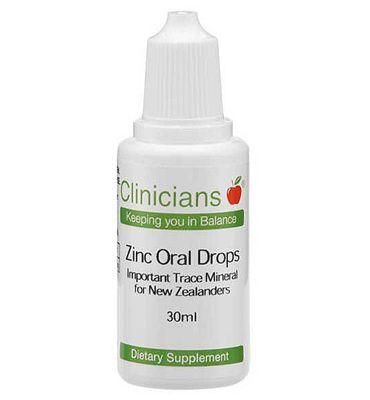 Zinc Oral Drops – Clinicians – 30ml | Shop New Zealand NZ$ 65.90