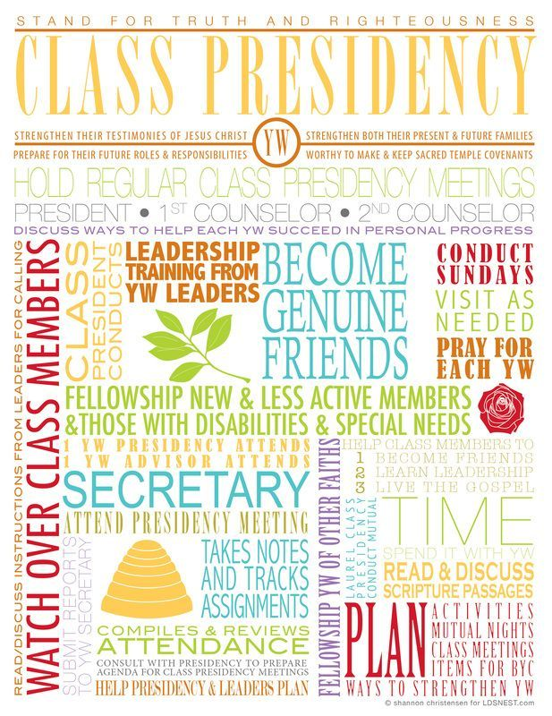 Here are some graphics to use with YW training - YW Presidencies, Class Presidencies, Stake Leaders