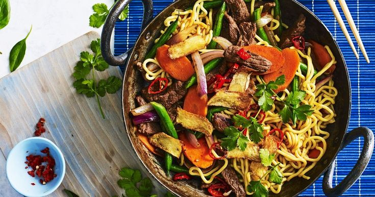 Looking for a quick and easy midweek meal? Try our lamb and hokkien noodle stir-fry with a sweet, sticky sauce.