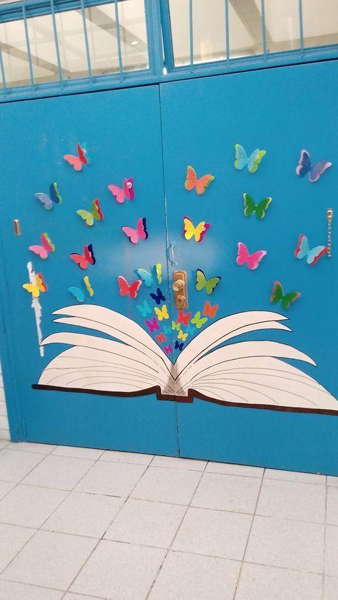 Decoración de primavera para los pasillos del cole o el rincón de la biblioteca...precioso...