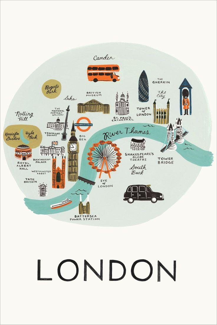 LONDON - Travel map