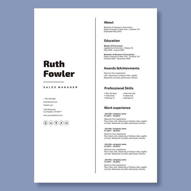 Creative Resume Template In Microsoft Word Cv With Modern And Minimalistic Design Day 29 Resume Is Ready This Time Something V Cv Ontwerp Whitespace Ontwerp