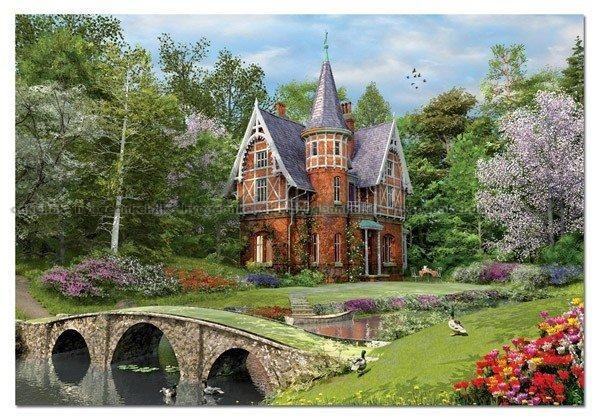 Davison: Huset vid stenbron, 1000 bitar by Boardgamer